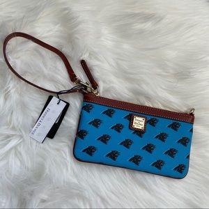 Dooney & Bourke NC panther wristlet wallet leather
